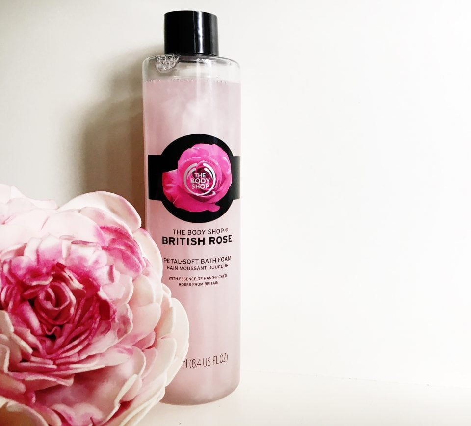 The body Shop British Rose Petal-Soft Bath Foam