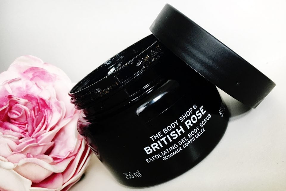 British Rose Exfoliating Gel Body Scrub