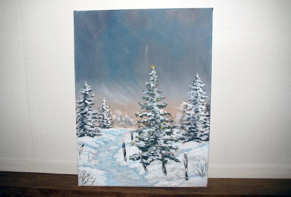 Kerst schilderij
