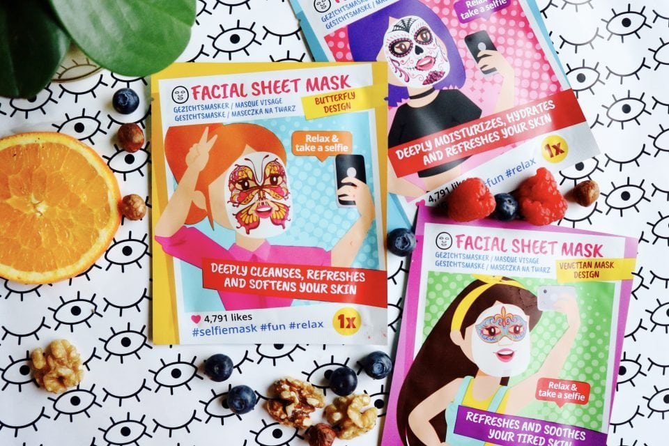 facial sheet maskers van action