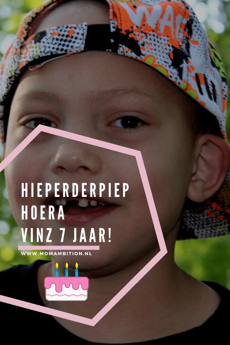 Hierperderpiep Hoera! Vinz Jarig! Momambition.nl