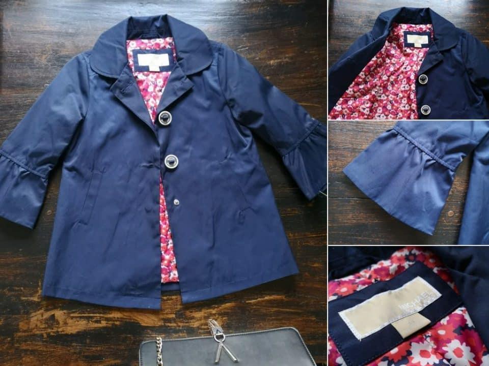 Shoplog: Zomerse garderobe in maat 104 voor Leia Momambition.nl Michael kors kinderjas TK MAxx
