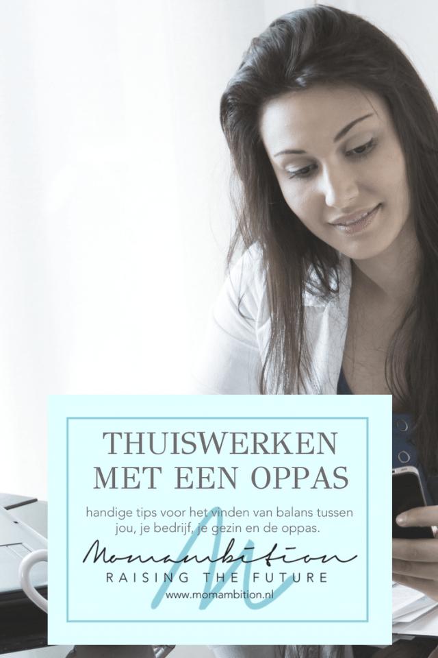 Thuiswerken met een oppas aan huis, zo doe je dat, ondernemen momambition.nl