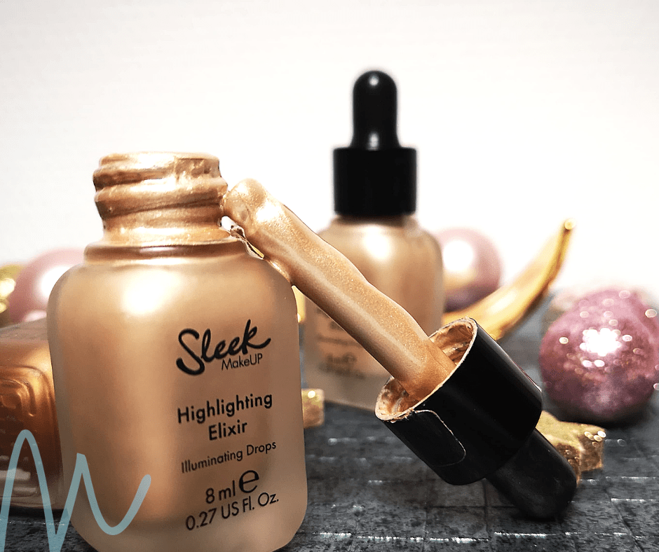 Sleek – Highlighting Elixir Illuminating Drops review | #8daysofchristmas2018 vloeibare highlighter budget beautyblog swatches