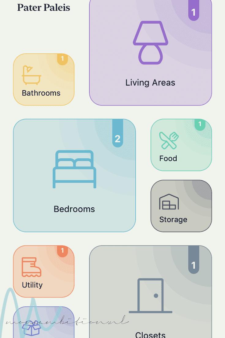 je huis opruimen met een app clutterfree minimaliseren
